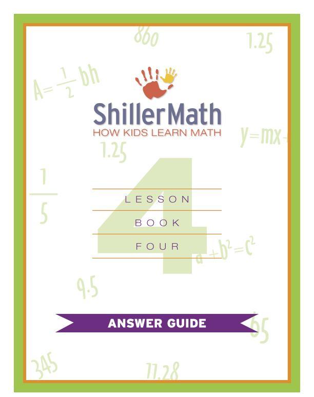 Lesson Book 4 Answer Guide