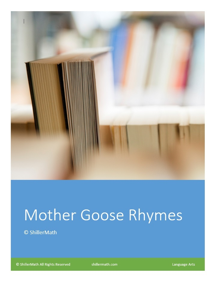 Language Arts Mother Goose Rhymes