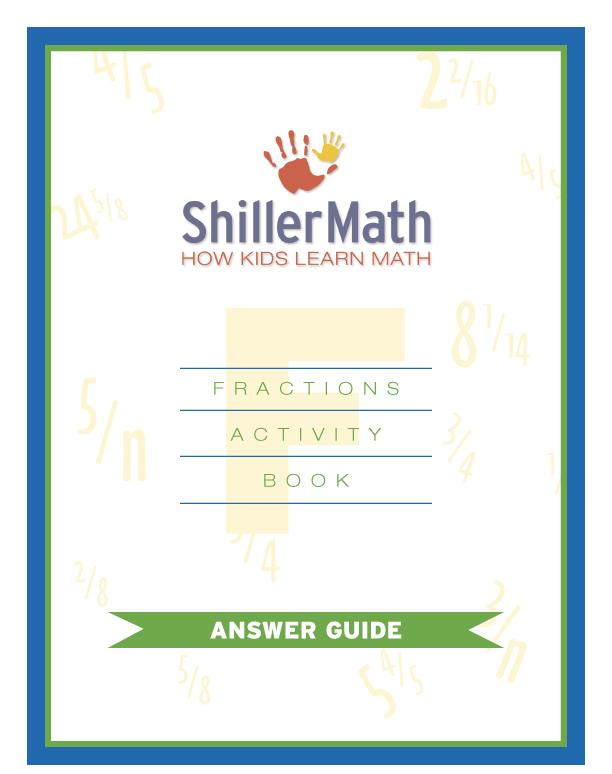 Fractions Book Answer Guide