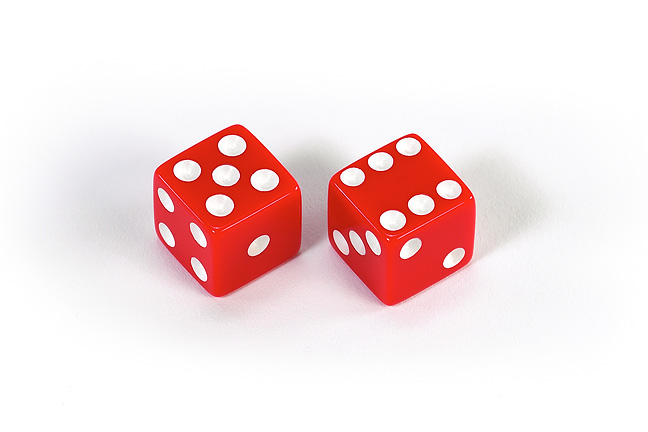 A pair of 6-sided dice