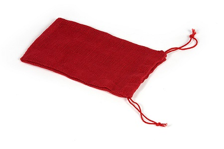 Opaque probability bag with string tie