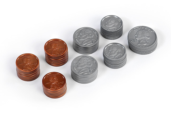 Set of US coins (plastic)