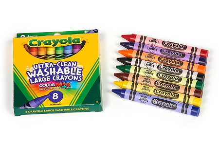 Eight Large Crayons